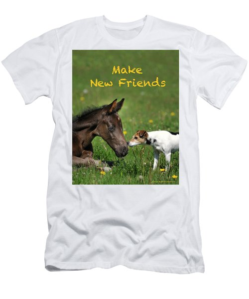Make New Friends Men's T-Shirt (Athletic Fit)