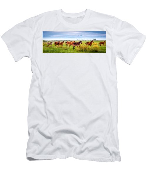 Men's T-Shirt (Athletic Fit) featuring the photograph Making A Diner Run by Melinda Ledsome