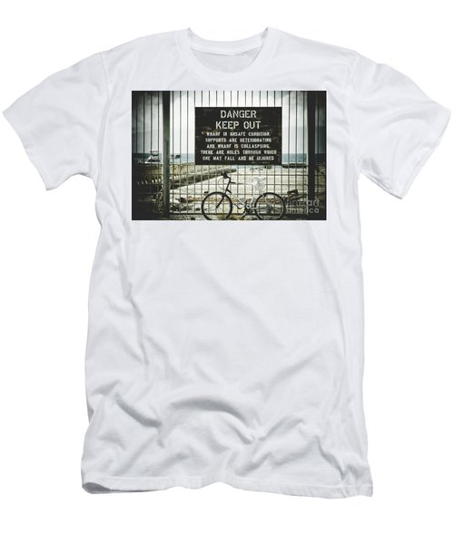 Men's T-Shirt (Slim Fit) featuring the photograph Mala Wharf Lahaina Maui Hawaii by Sharon Mau