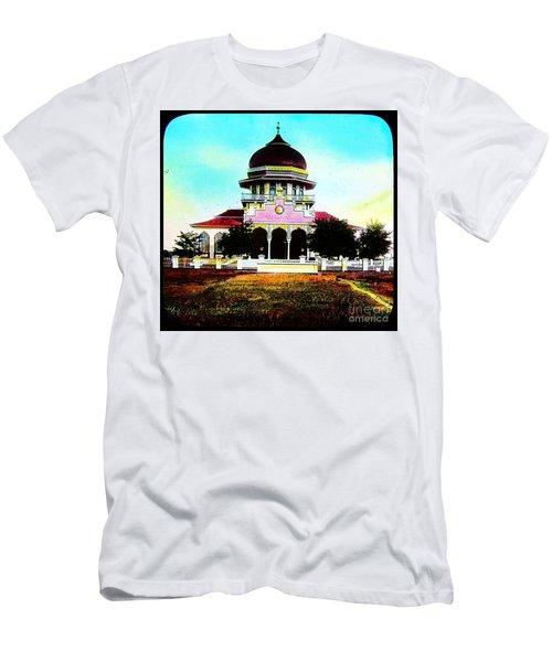 Malay Mosque Singapore Circa 1910 Men's T-Shirt (Slim Fit) by Peter Gumaer Ogden