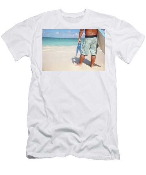 Male Bodyboarder Men's T-Shirt (Athletic Fit)