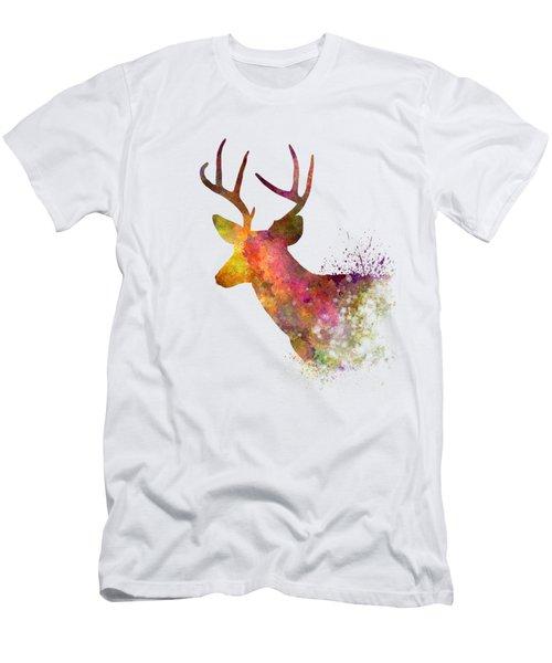 Male Deer 02 In Watercolor Men's T-Shirt (Athletic Fit)