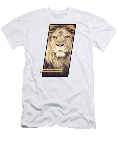 Male Lion Men's T-Shirt (Slim Fit) by Sven Horn