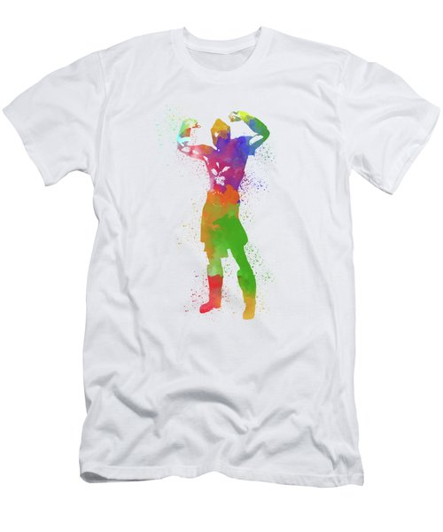 Male Watercolor Pose 1 Men's T-Shirt (Athletic Fit)