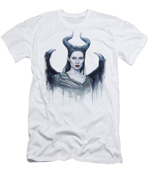 Maleficent Watercolor Portrait Men's T-Shirt (Athletic Fit)