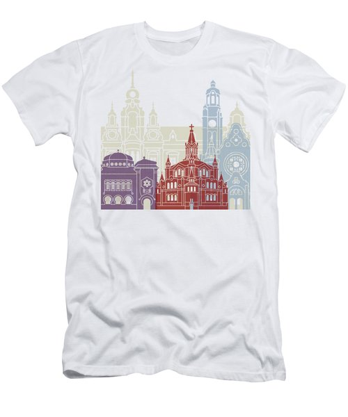 Malmo Skyline Poster Men's T-Shirt (Athletic Fit)