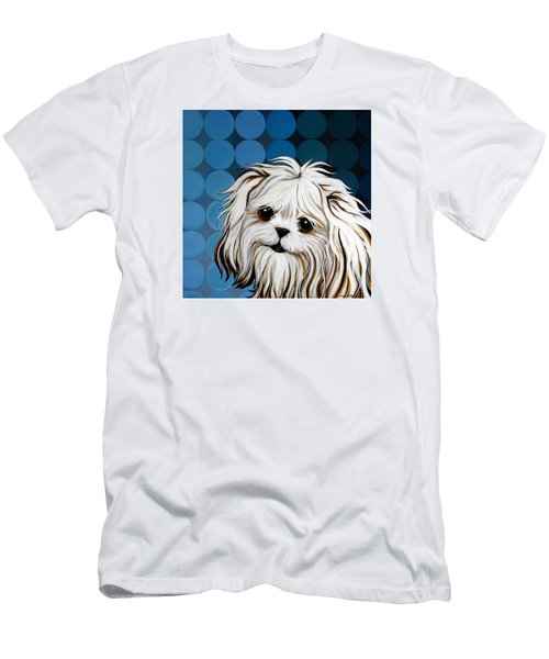 Maltese Magic Men's T-Shirt (Slim Fit) by Leanne WILKES