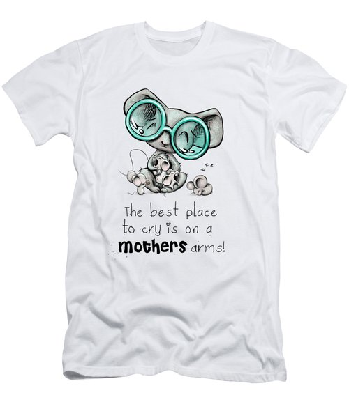 Men's T-Shirt (Slim Fit) featuring the digital art Mamma Mouse by Lizzy Love