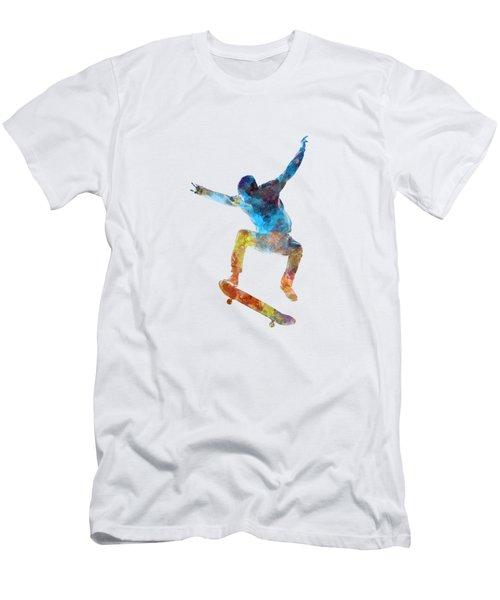 Man Skateboard 01 In Watercolor Men's T-Shirt (Athletic Fit)