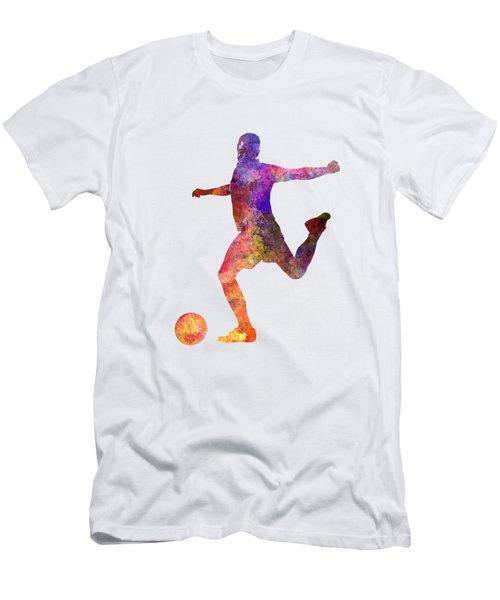 Man Soccer Football Player 03 Men's T-Shirt (Slim Fit) by Pablo Romero