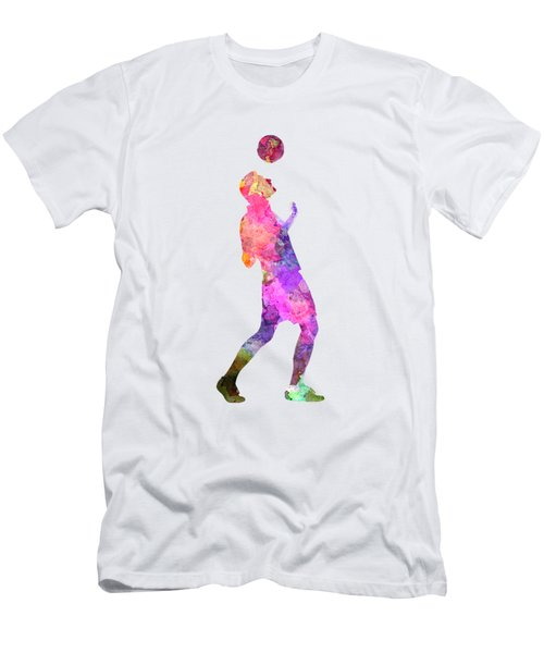 Man Soccer Football Player 06 Men's T-Shirt (Slim Fit) by Pablo Romero