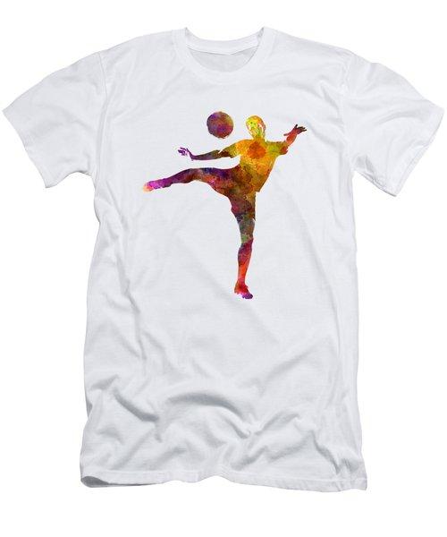 Man Soccer Football Player 07 Men's T-Shirt (Slim Fit) by Pablo Romero