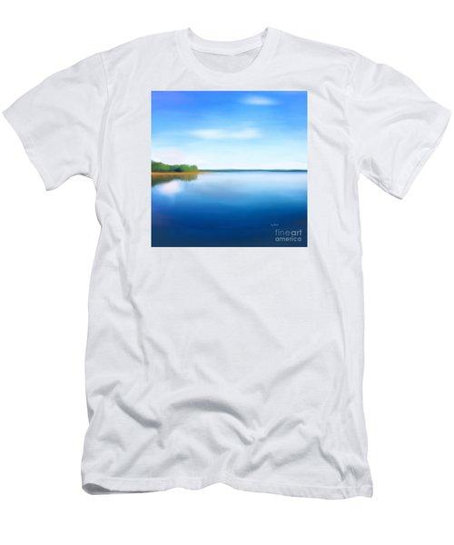 Men's T-Shirt (Athletic Fit) featuring the painting Manasquan Reservoir by Catia Lee