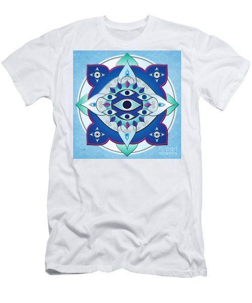Mandala Of The Seven Eyes Men's T-Shirt (Athletic Fit)