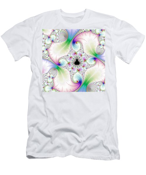 Mandebrot In Pastel Fractal Wonderland Men's T-Shirt (Slim Fit) by Matthias Hauser