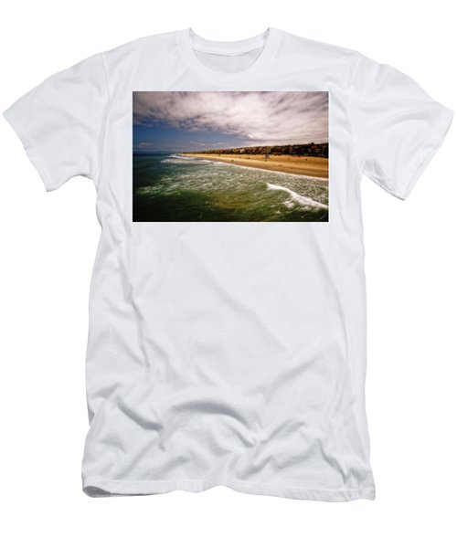 Men's T-Shirt (Athletic Fit) featuring the photograph Manhattan Beach Surrealist by Michael Hope