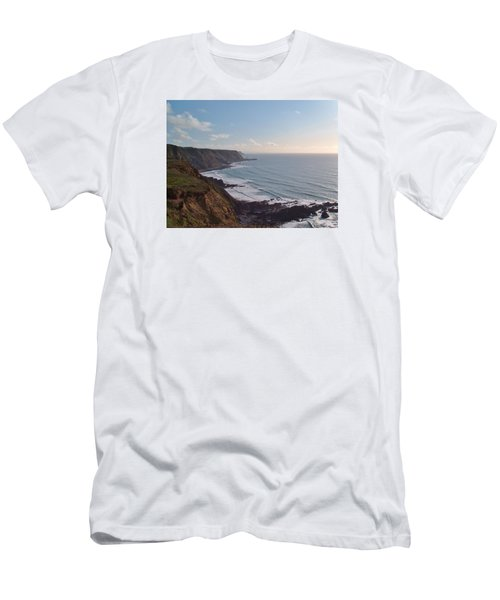 Mansley Cliff And Gull Rock From Longpeak Men's T-Shirt (Athletic Fit)