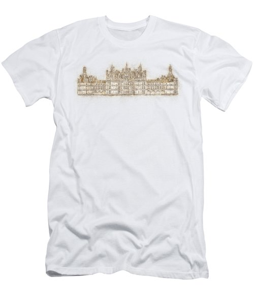 Map Of The Castle Chambord Men's T-Shirt (Slim Fit) by Anton Kalinichev