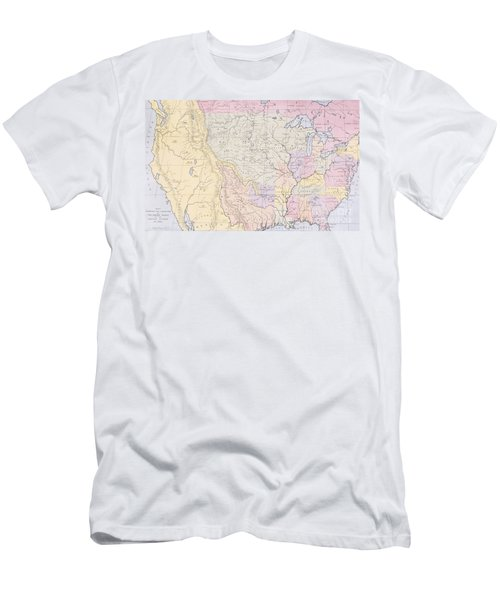 Map Showing The Localities Of The Indian Tribes Of The Us In 1833 Men's T-Shirt (Athletic Fit)