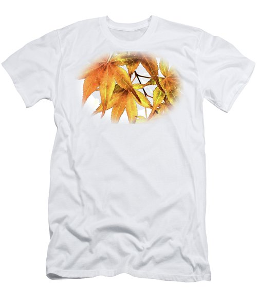 Maple Leaves Men's T-Shirt (Slim Fit) by Barry Jones