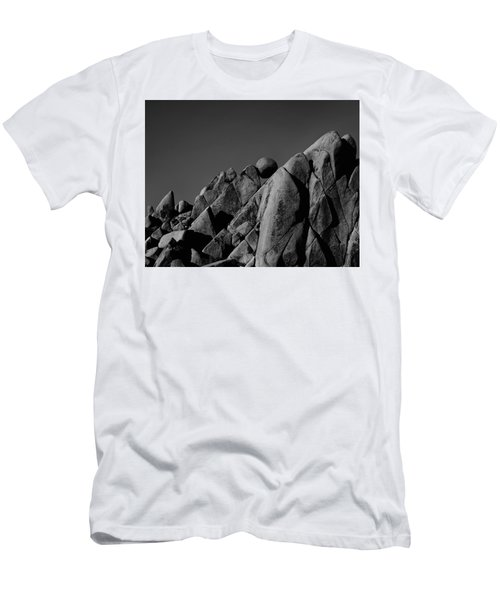 Marble Rock Formation B And W Version Men's T-Shirt (Athletic Fit)