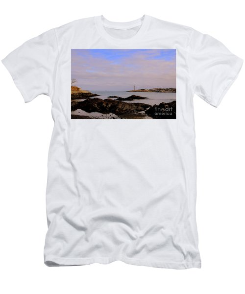 Marblehead Harbor And Light Men's T-Shirt (Athletic Fit)