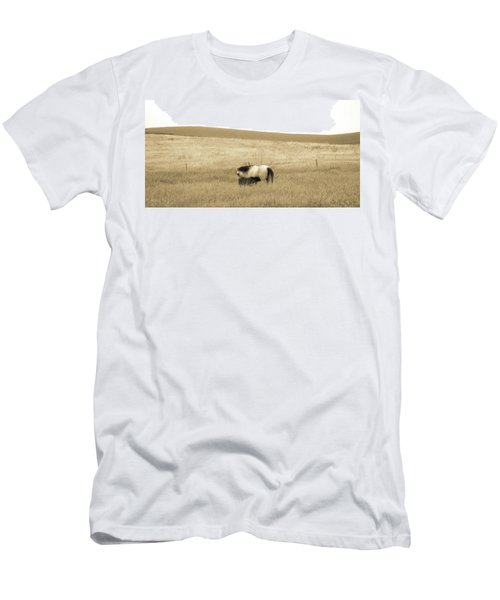 Mare And Foal  Men's T-Shirt (Slim Fit) by Dawn Romine