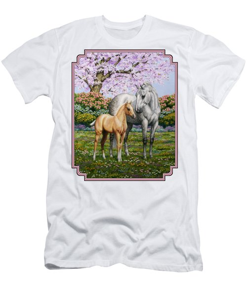 Mare And Foal Pillow Pink Men's T-Shirt (Athletic Fit)
