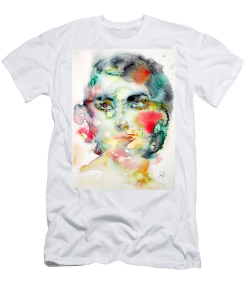 Maria Callas - Watercolor Portrait.3 Men's T-Shirt (Athletic Fit)