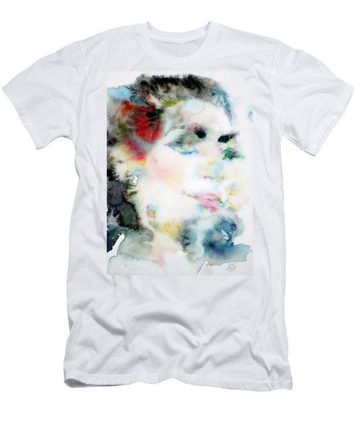 Maria Callas - Watercolor Portrait.4 Men's T-Shirt (Athletic Fit)