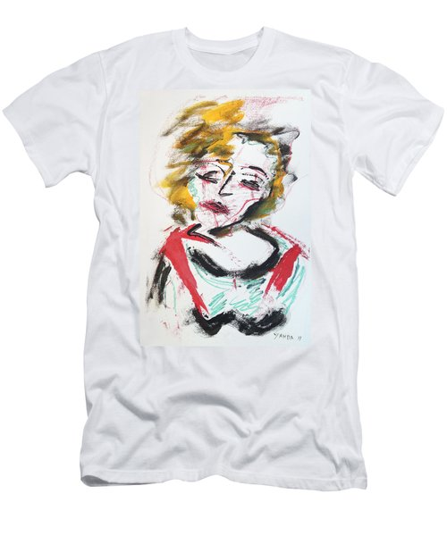 Marilyn Abstract Men's T-Shirt (Athletic Fit)