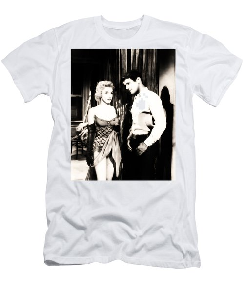 Men's T-Shirt (Athletic Fit) featuring the photograph Marilyn Monroe Blond Bomb Shell by R Muirhead Art