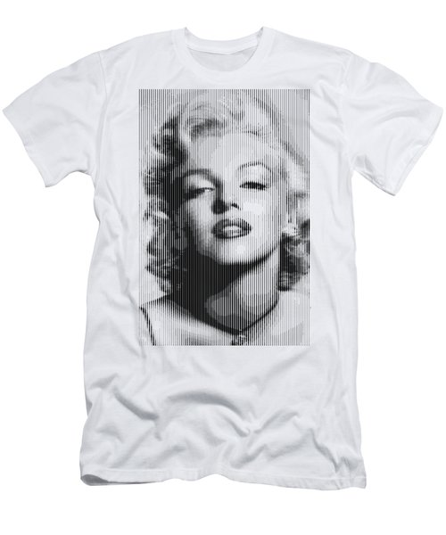 Marilyn Monroe - Bw Verticals  Men's T-Shirt (Athletic Fit)