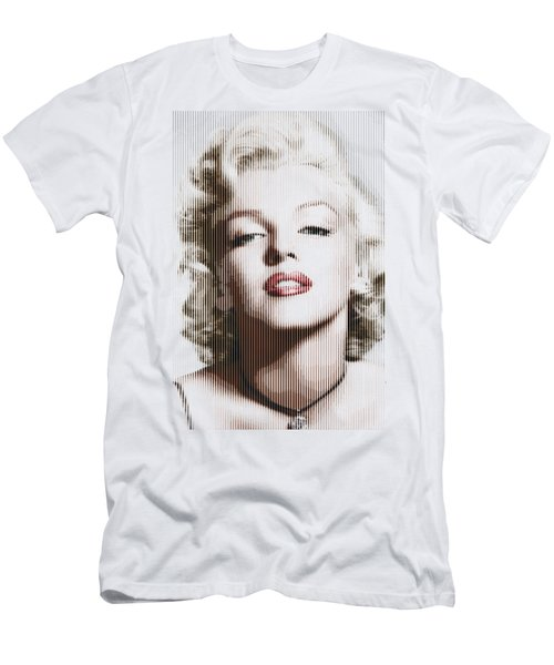 Marilyn Monroe - Colored Verticals Men's T-Shirt (Slim Fit) by Samuel Majcen
