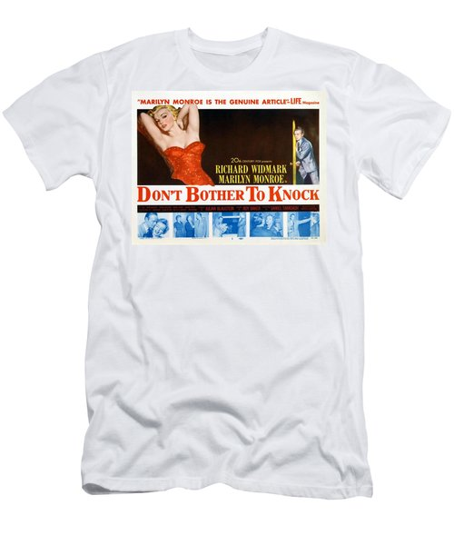 Men's T-Shirt (Athletic Fit) featuring the photograph Marilyn Monroe Movie Poster Don't Bother To Knock by R Muirhead Art