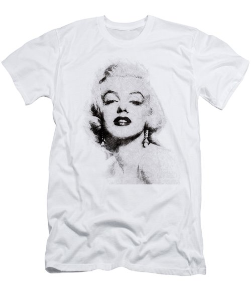 Marilyn Monroe Portrait 02 Men's T-Shirt (Athletic Fit)