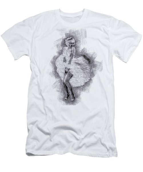 Marilyn Monroe Portrait 03 Men's T-Shirt (Slim Fit)