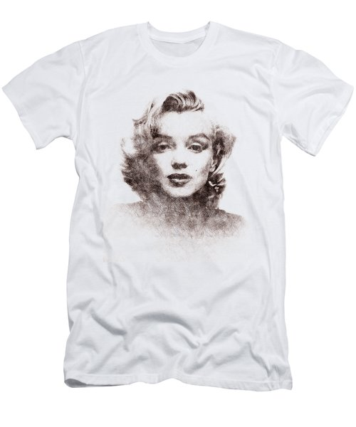Marilyn Monroe Portrait 04 Men's T-Shirt (Athletic Fit)