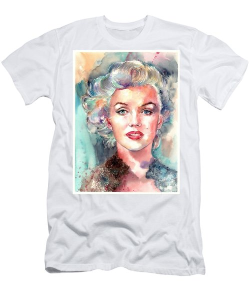 Marilyn Monroe Portrait Men's T-Shirt (Athletic Fit)