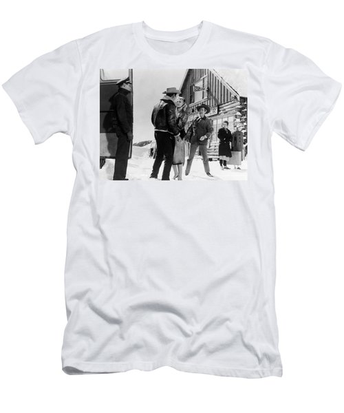 Men's T-Shirt (Athletic Fit) featuring the photograph Marilyn Monroe Western Scene by R Muirhead Art
