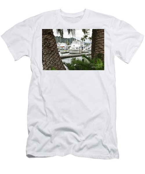 Men's T-Shirt (Slim Fit) featuring the photograph Marina View by Yurix Sardinelly