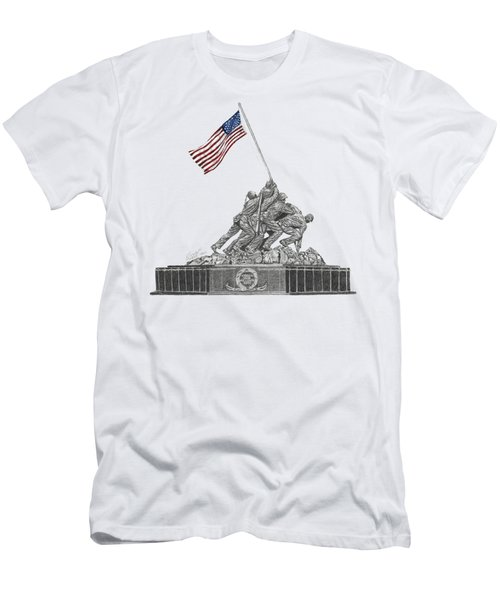 Marine Corps War Memorial - Iwo Jima Men's T-Shirt (Athletic Fit)