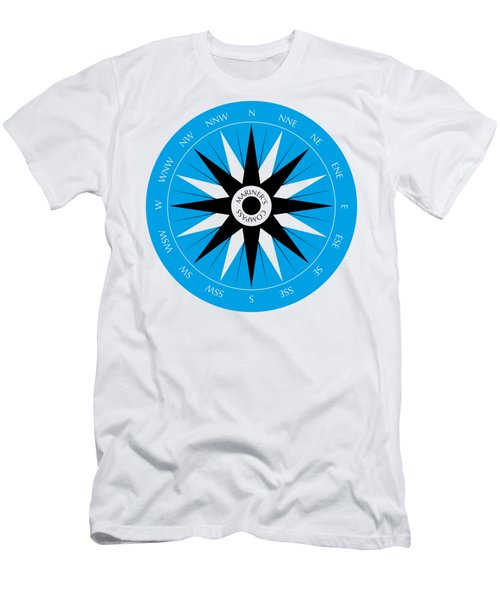 Men's T-Shirt (Slim Fit) featuring the drawing Mariner's Compass by Frank Tschakert
