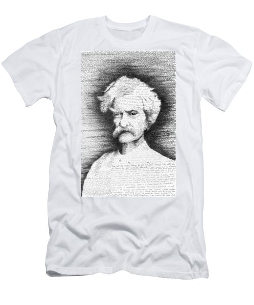 Mark Twain In His Own Words Men's T-Shirt (Athletic Fit)