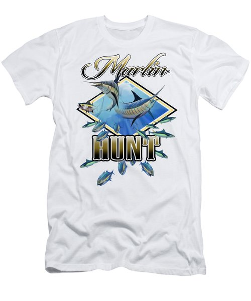Marlin Hunt 2 Men's T-Shirt (Athletic Fit)