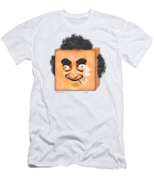 Men's T-Shirt (Slim Fit) featuring the digital art Marty Feldman Caricature by John Wills