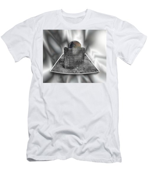 Mary's Death's Head In 3d Men's T-Shirt (Athletic Fit)