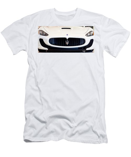 Maserati White Pano 121715 Men's T-Shirt (Athletic Fit)