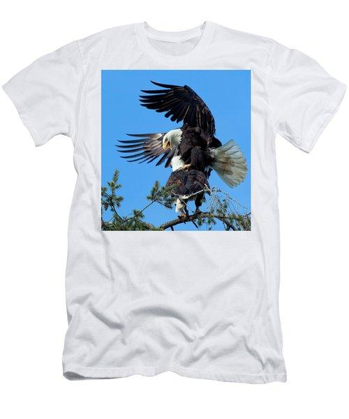 Mating Ritual Men's T-Shirt (Slim Fit) by Sheldon Bilsker