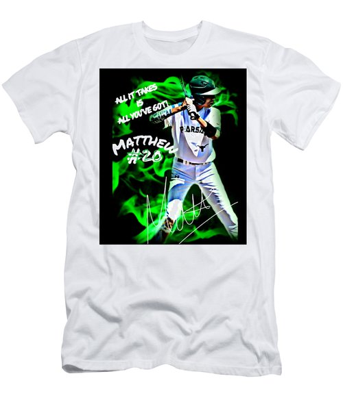 Men's T-Shirt (Slim Fit) featuring the photograph Matthew #20 by Linda Cox